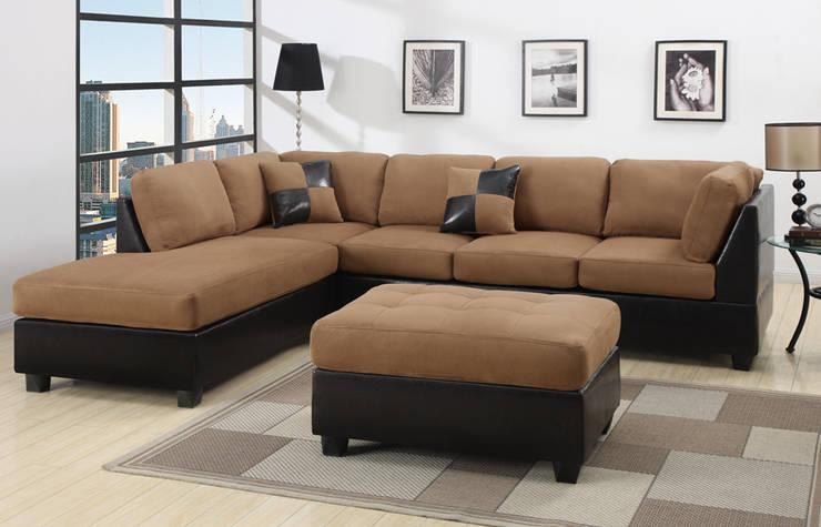 rinconer napoles:  de estilo  por rosario sofas,Moderno Madera maciza Multicolor
