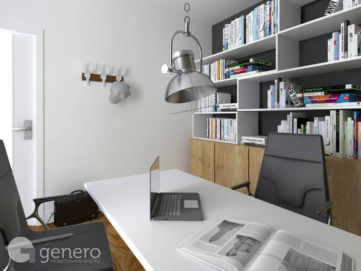 Dom jednorodzinny, Poznań: styl , w kategorii Domowe biuro i gabinet zaprojektowany przez GENERO,Nowoczesny
