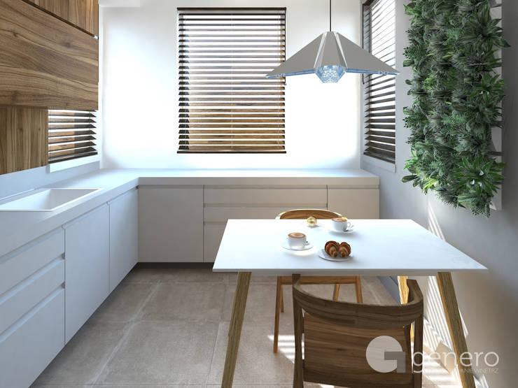 Dom jednorodzinny, Poznań: styl , w kategorii Kuchnia zaprojektowany przez GENERO,Nowoczesny