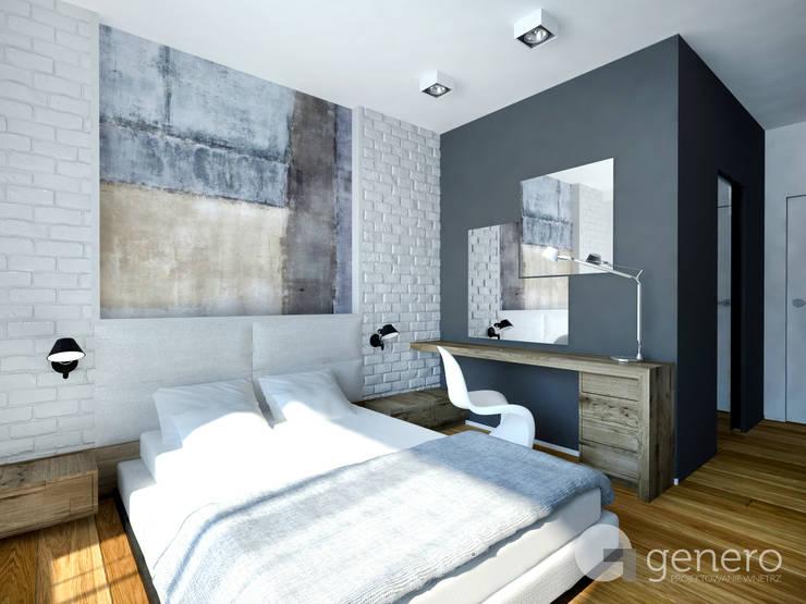 Dom jednorodzinny, Poznań: styl , w kategorii Sypialnia zaprojektowany przez GENERO,Nowoczesny