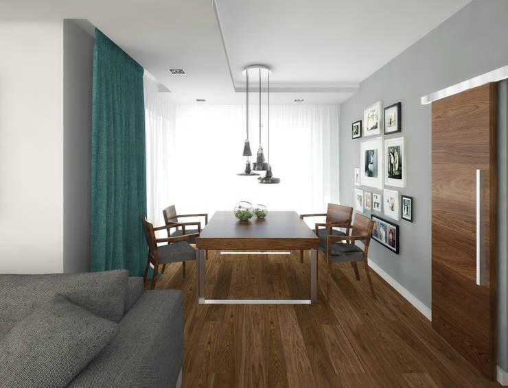 Dom jednorodzinny, Poznań: styl , w kategorii Jadalnia zaprojektowany przez GENERO,Nowoczesny