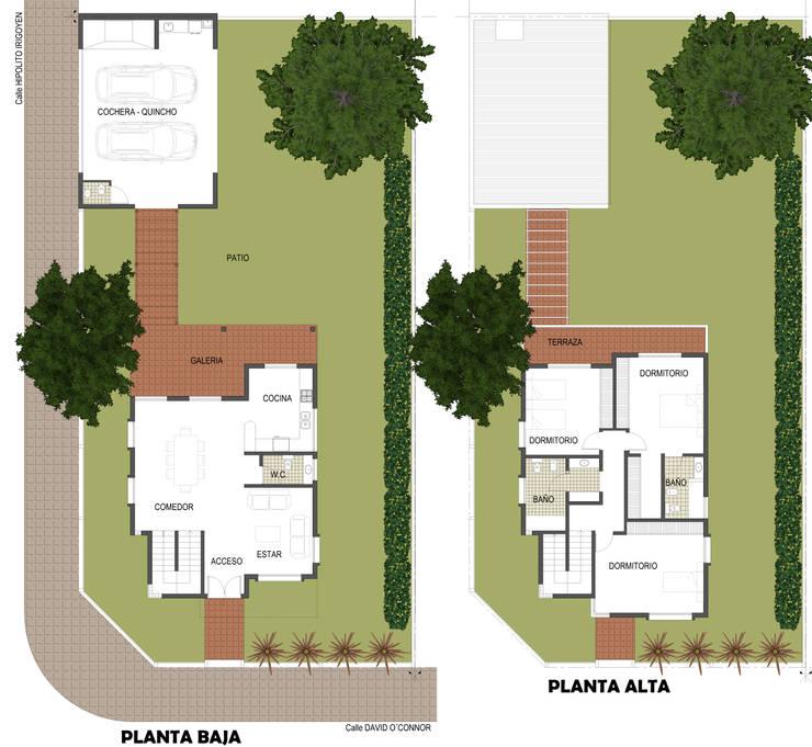 Vivienda unifamiliar: Casas de estilo  por AB Arquitectura,