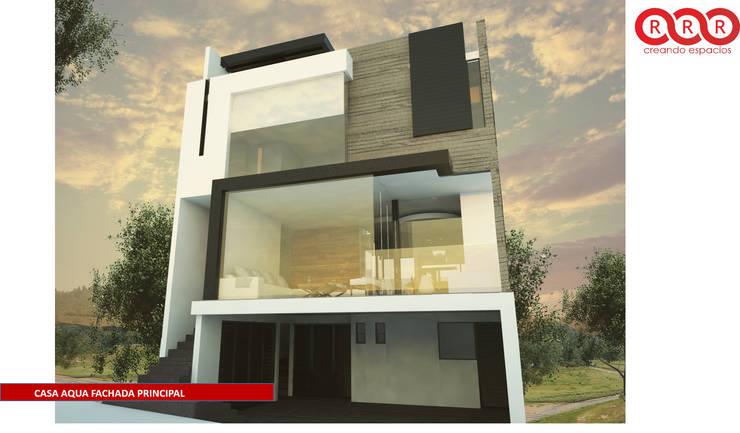 Fachada Principal: Casas de estilo  por Tres-r