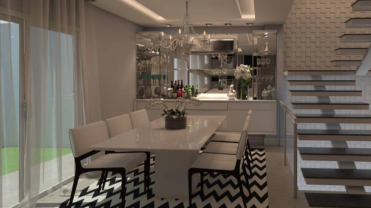 Living e Jantar   TZ: Salas de jantar  por CMS.ARQ - Camila Machado Salmória