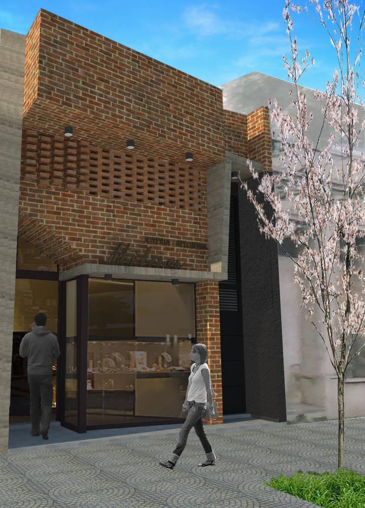 PROYECTO FINAL Oficinas y comercios de estilo moderno de VF ESTUDIO Moderno Ladrillos