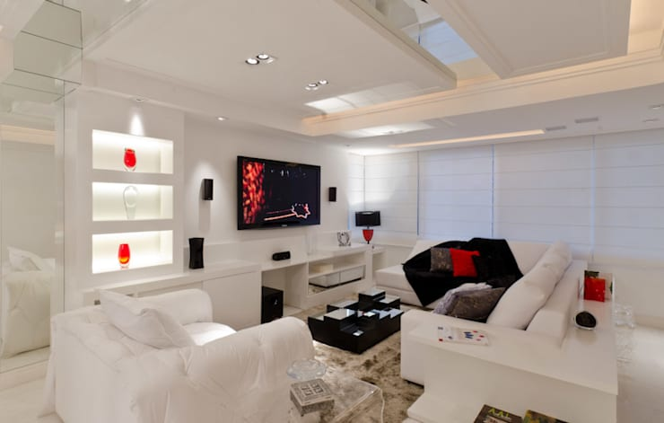 Livings de estilo  por HB Arquitetos Associados , Moderno Tablero DM