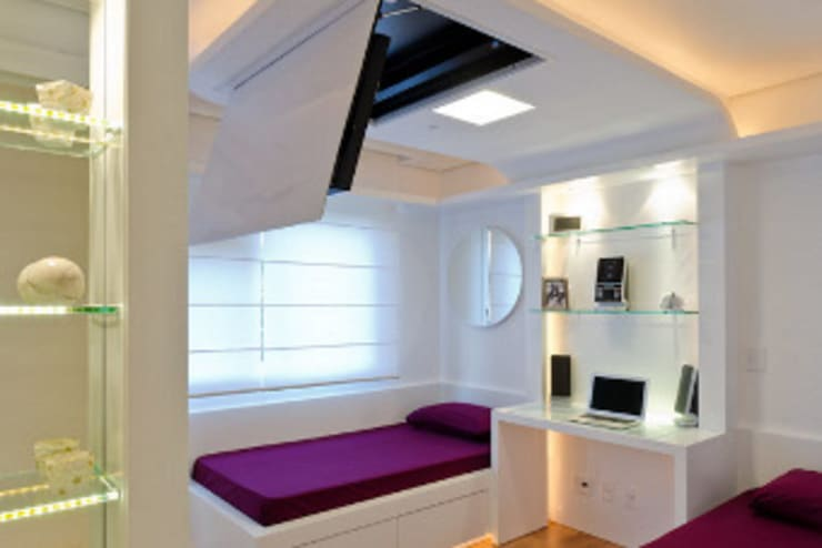 Slaapkamer door HB Arquitetos Associados, Modern