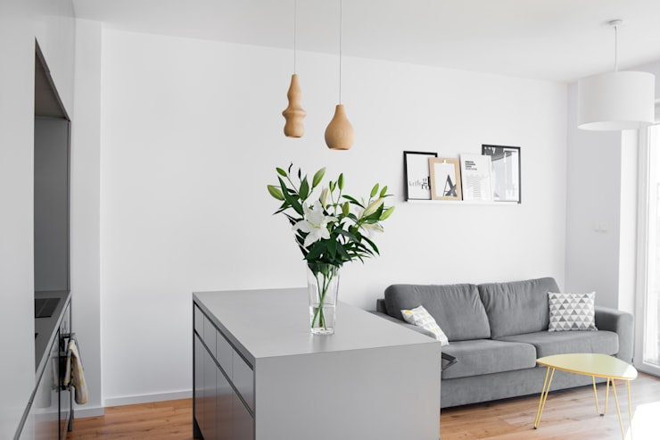 Living room by Joanna Kubieniec, Modern