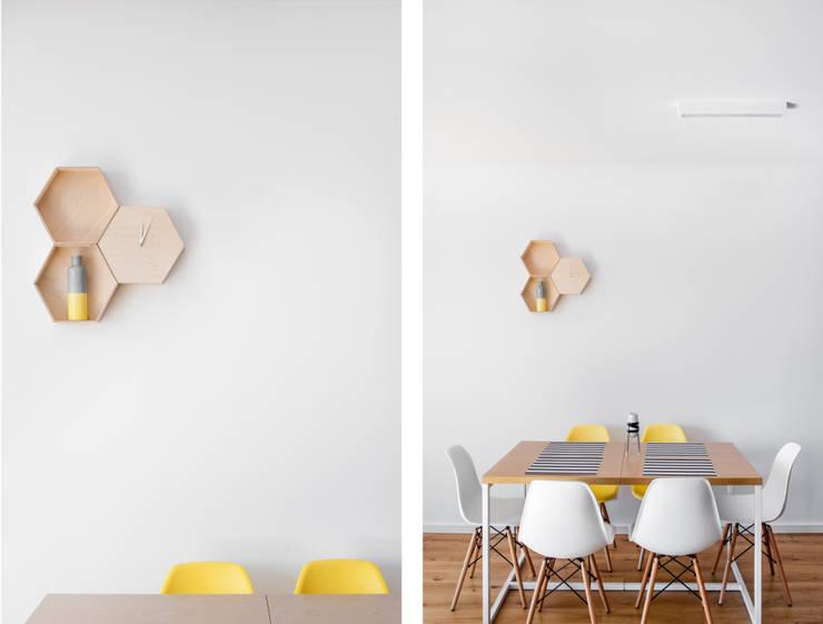 Mieszkanie Tychy: styl , w kategorii Jadalnia zaprojektowany przez Joanna Kubieniec