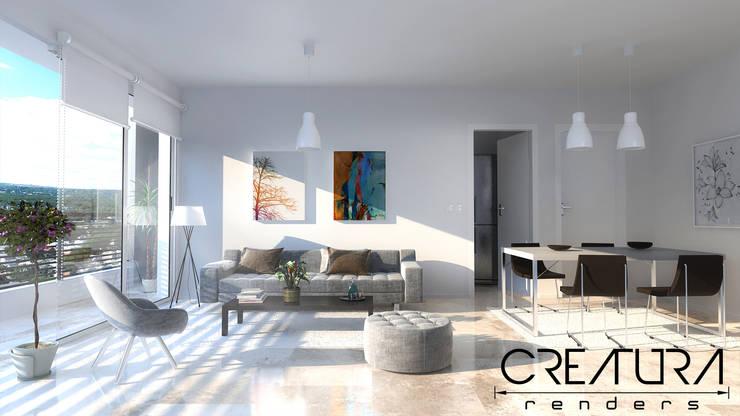 Galeria 2: Livings de estilo clásico por Creatura Renders