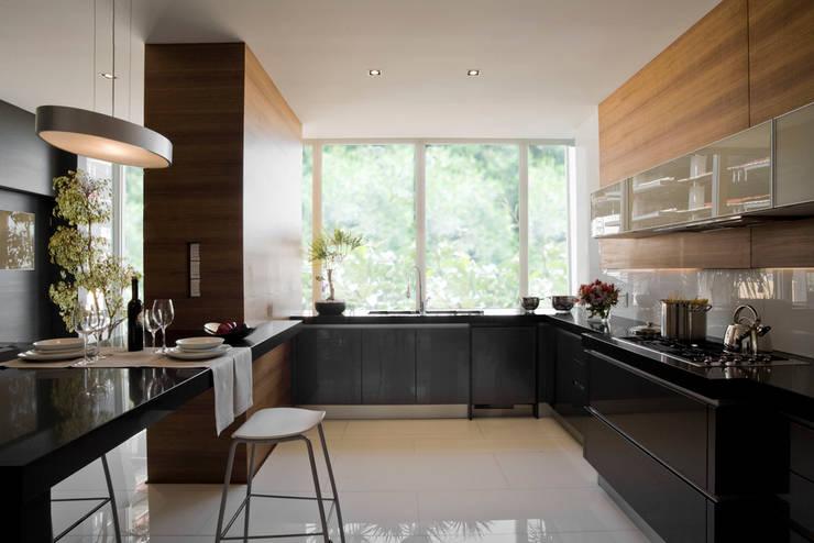 Edificio Vidalta: Cocinas de estilo  por Serrano Monjaraz Arquitectos