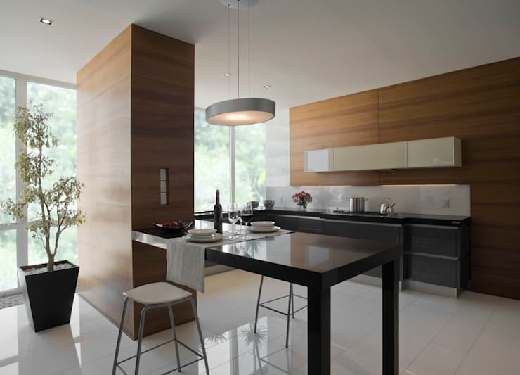 Kitchen by Serrano Monjaraz Arquitectos