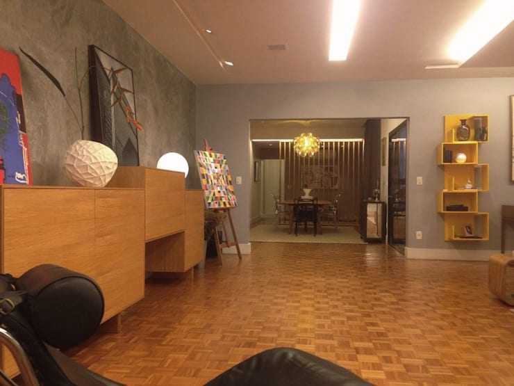 Salas / recibidores de estilo  por Carlos Salles Arquitetura e Interiores, Moderno