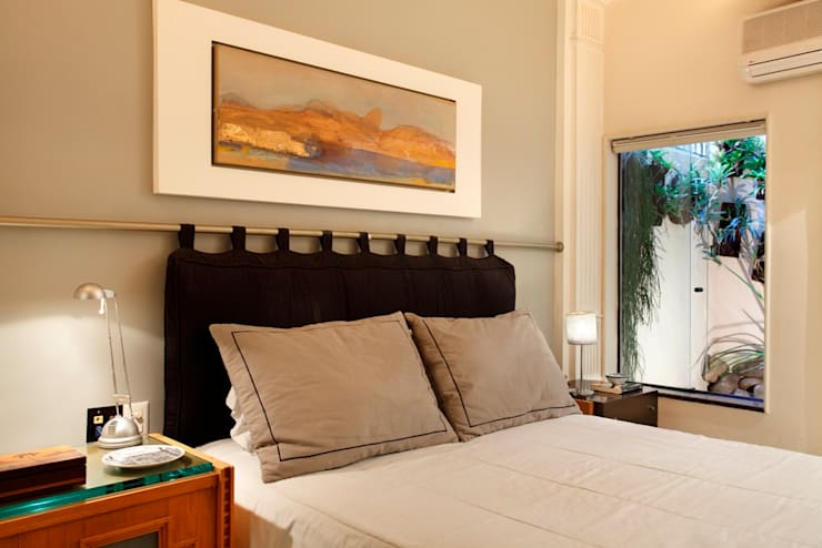 Apartamento Ipanema 3: Quartos  por Carlos Salles Arquitetura e Interiores,