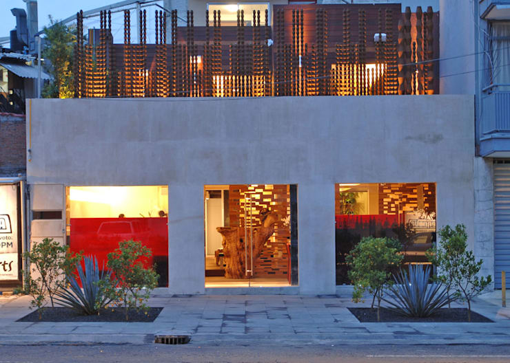 Restaurante Jaso : Casas de estilo  por Serrano Monjaraz Arquitectos