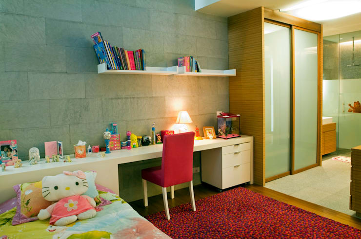 Casa LB : Recámaras infantiles de estilo  por Serrano Monjaraz Arquitectos