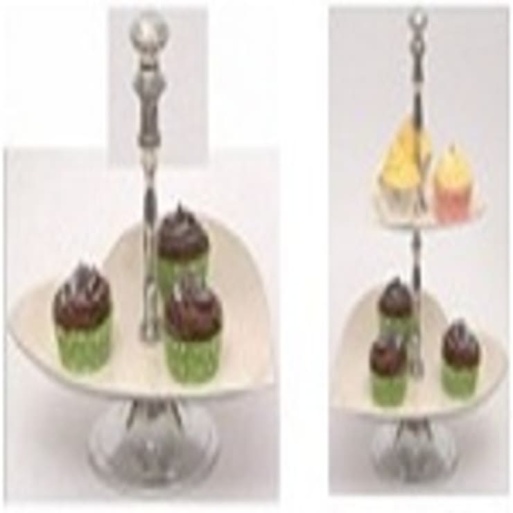 Aluminium Two Tier Heart Cake Stand:  Kitchen by Alyth Creations
