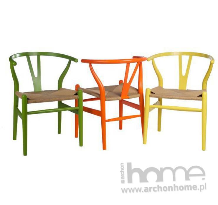 krzesła WICKER: styl , w kategorii Jadalnia zaprojektowany przez ArchonHome.pl