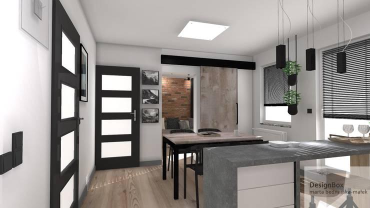 Mieszkanie z industrialnym akcentem: styl , w kategorii Kuchnia zaprojektowany przez Designbox Marta Bednarska-Małek