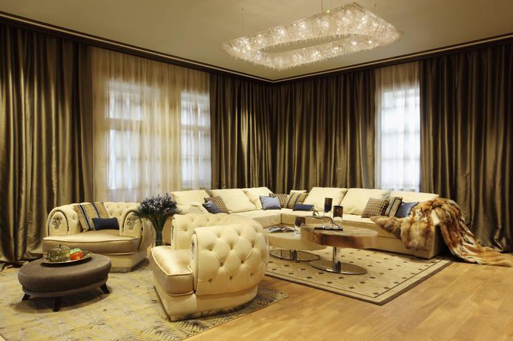 Projekty,  Salon zaprojektowane przez Manooi