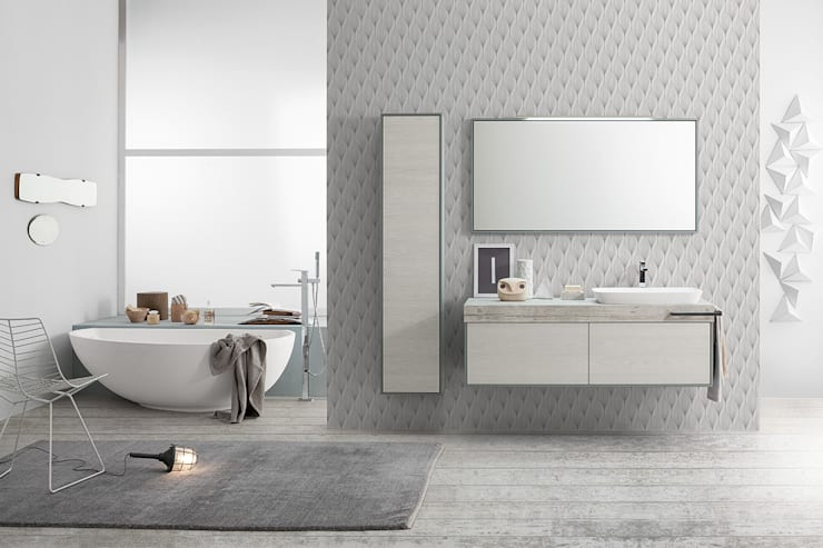 Summit collection: furniture elements: Bagno in stile  di Mastella Design