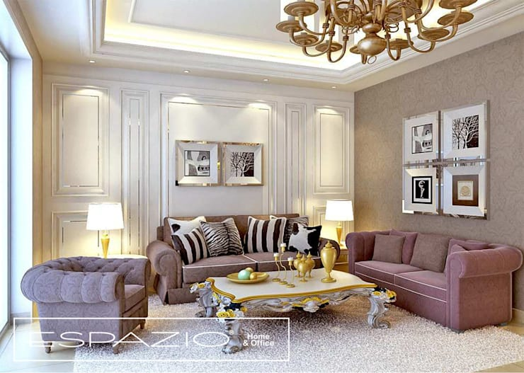 Apartamento de Luxo: Salas de estar  por Espazio - Home & Office