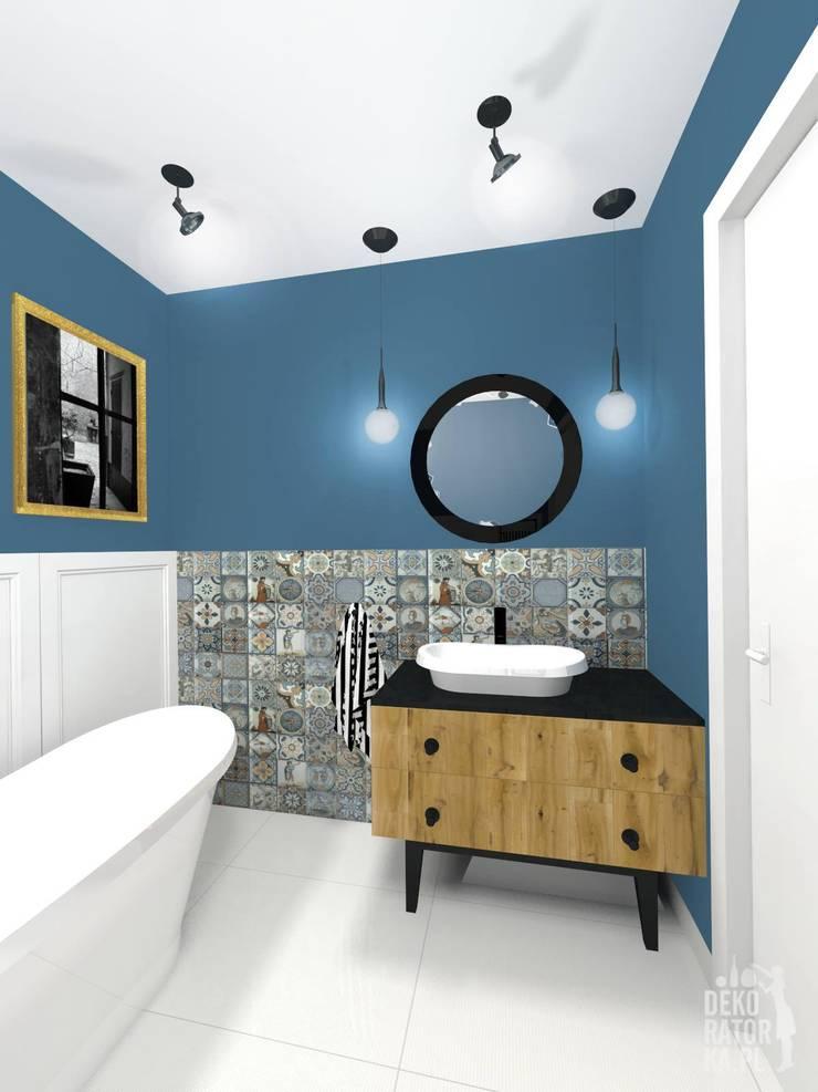 POZNAŃ | Mieszkanie w bloku | Koncepcja: styl , w kategorii Łazienka zaprojektowany przez dekoratorka.pl