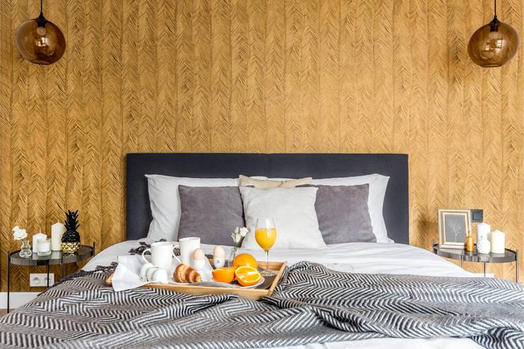 Fotografia wnętrz: mieszkanie pokazowe Intenso Wola;  Projekt: Decoorom: styl , w kategorii Sypialnia zaprojektowany przez Pion Poziom - fotografia wnętrz,Eklektyczny