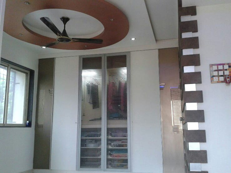Proposed Interior For Residence of 3BHK Flat:  Bedroom by KANAKIA INTERIOR AND CONSULTANCY,Classic