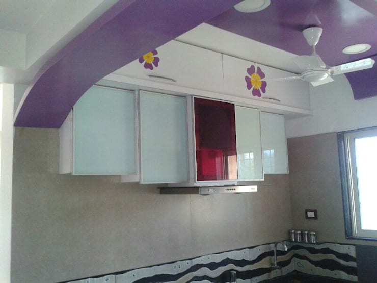 Proposed Interior For Residence of 3BHK Flat:  Kitchen by KANAKIA INTERIOR AND CONSULTANCY,Classic