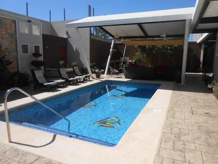 Projekty,  Ogród zaprojektowane przez Obras y reformas de vivienda,proyectos de arquitectura en Tabasco.