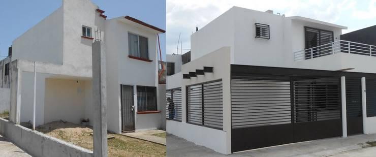 منازل تنفيذ Obras y reformas de vivienda,proyectos de arquitectura en Tabasco.