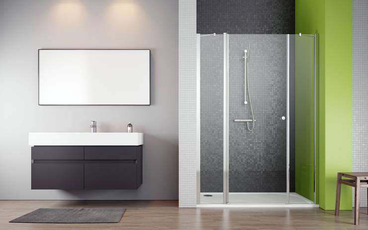 Drzwi wnękowe EOS II DWJS: styl , w kategorii  zaprojektowany przez Radaway,Nowoczesny
