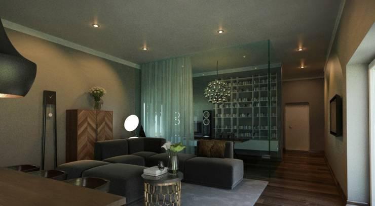 Moradia: Salas de estar  por Maqet