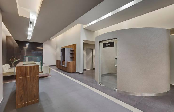 Nacional Monte de Piedad (Sucursal Santa Fe): Estudios y oficinas de estilo  por usoarquitectura