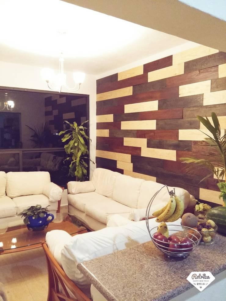 Muro Finalizado: Salas de estilo  por Diseñeria 72ocho10
