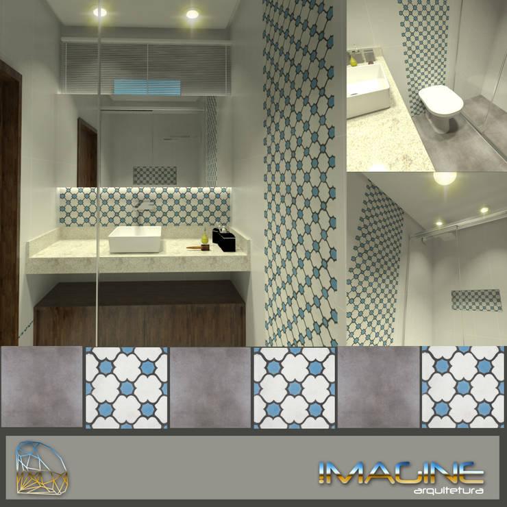 Banheiro do casal: Banheiro  por Imagine Arquitetura,