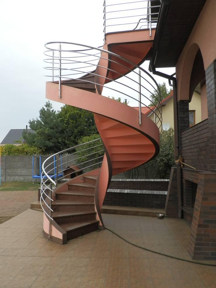 betonowe schody: styl , w kategorii Korytarz, hol i schody zaprojektowany przez A.P. RUD Schody