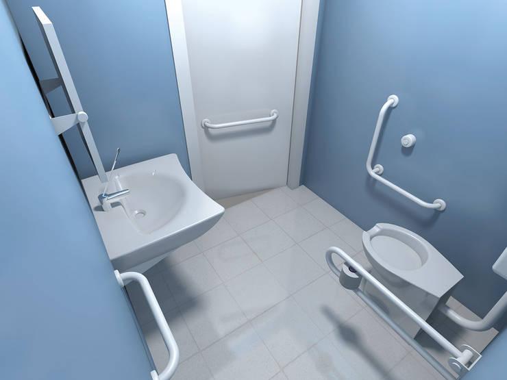 NOUVELLE. | Proje Danışmanlık – Engelli Tuvaletleri:  tarz Banyo