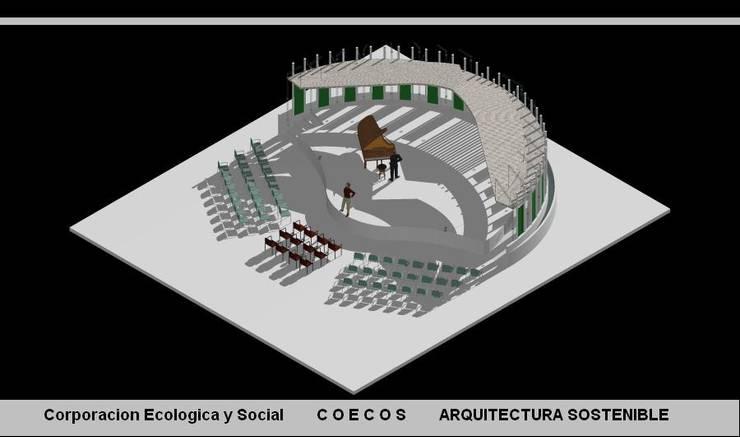 CONCHA ACUSTICA:  de estilo  por arquitectura sostenible colombia