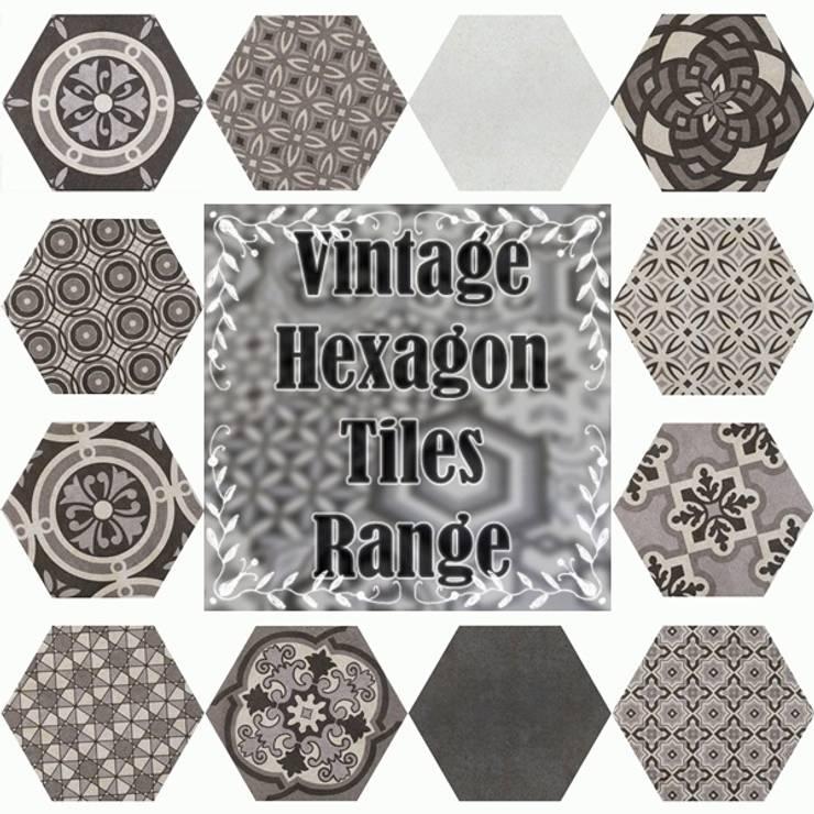 Bathroom Hexagon Range:  Bathroom by Tilezone