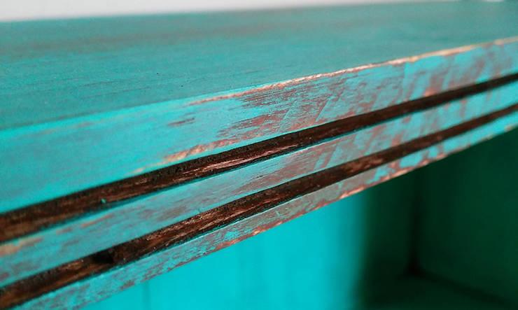 Pons Home Design – 3 Çekmeceli Vintage Dolap – Yeşil:  tarz Ev İçi