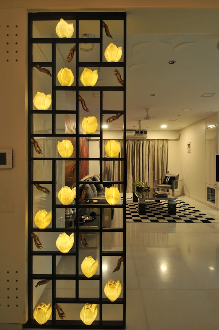 Site at Vile Parle :  Corridor & hallway by Mybeautifulife,Modern