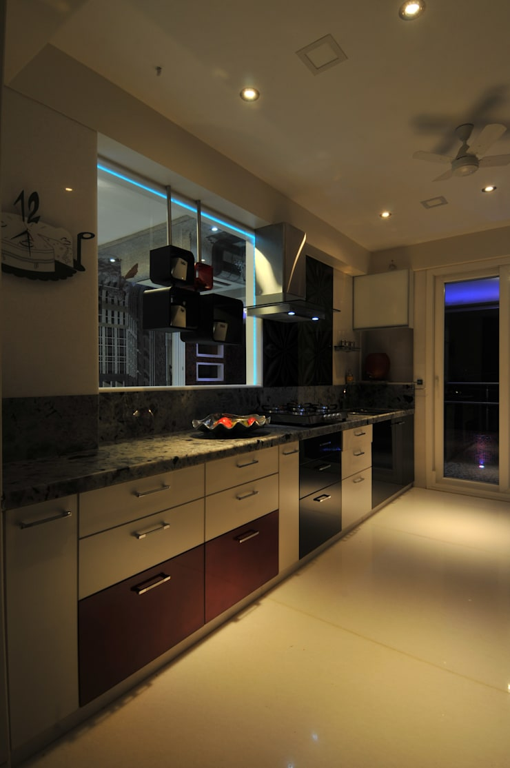 Site at Vile Parle :  Kitchen by Mybeautifulife,Modern