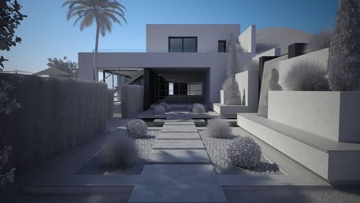 OPUS E17-2: Jardines de estilo moderno de MANSION DESIGN