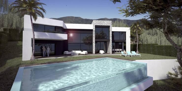 OPUS 15-7: Casas de estilo  de MANSION DESIGN