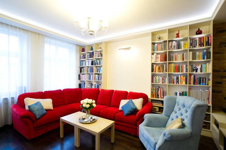 Miekszanie na Starówce: styl , w kategorii Salon zaprojektowany przez Gzowska&Ossowska Pracownie Architektury Wnętrz,Klasyczny