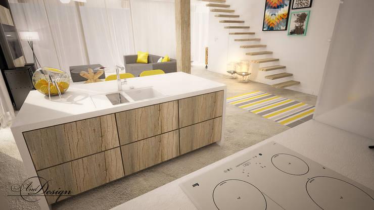 Widok na kuchnię: styl , w kategorii Kuchnia zaprojektowany przez And Interior Design