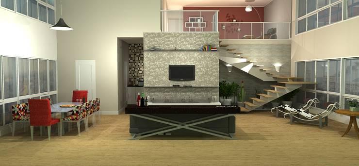 Duplex: Salas de estar  por 151 office Arquitetura LTDA,