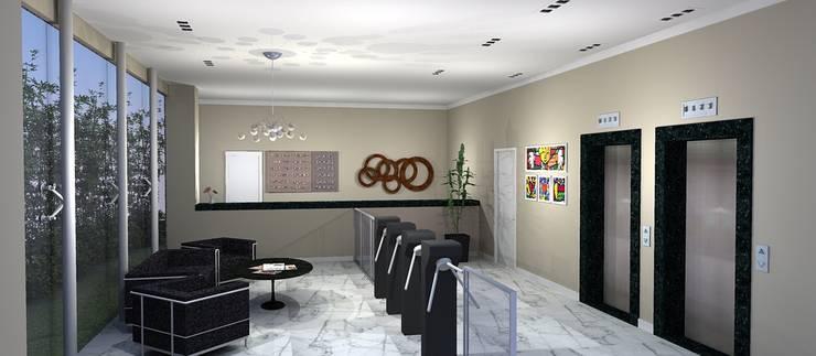 Hall Edifício comercial: Corredores e halls de entrada  por 151 office Arquitetura LTDA,
